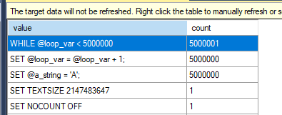 Get faster performance and lower network usage in SQL Server Loops
